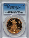 Modern Bullion Coins: , 2000-W G$50 One-Ounce Gold Eagle PR70 Deep Cameo PCGS. PCGS Population (156). NGC Census: (596). Numismedia Wsl. Price for...