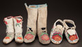American Indian Art:Beadwork and Quillwork, THREE PAIRS OF PLATEAU BEADED HIDE MOCCASINS... (Total: 6 Items)