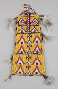 American Indian Art:Beadwork and Quillwork, A SIOUX PICTORIAL BEADED HIDE POUCH...