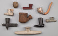 American Indian Art:Pipes, Tools, and Weapons, NINE MISCELLANEOUS PIPES... (Total: 9 Items)