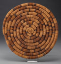 American Indian Art:Baskets, HOPI BUNDLE COILED PLAQUE...