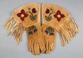 American Indian Art:Beadwork and Quillwork, A PAIR OF PLATEAU BEADED HIDE GAUNTLETS. ... (Total: 2 )