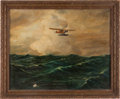 """Transportation:Aviation, Amelia Earhart: Painting of the """"Friendship""""...."""