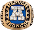 Football Collectibles:Others, 1986 Sammy Winder Denver Broncos AFC Championship Ring and Presentational Box....