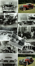 Books:Prints & Leaves, [Automobiles] Small Archive of Material Relating to Automobiles. May include negatives, photo reproductions and newspaper cl...