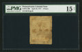 Colonial Notes:Pennsylvania, Pennsylvania April 10, 1777 3d PMG Choice Fine 15 Net.. ...