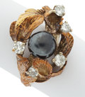 Estate Jewelry:Rings, Diamond, Hematite, Gold Ring. ...