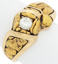 Estate Jewelry:Rings, Diamond, Gold Nugget, Gold Ring. ...