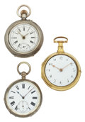 Timepieces:Pocket (pre 1900) , Three Swiss Pocket Watches For Parts Or Repair. ... (Total: 3Items)