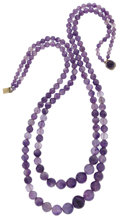 Art Glass:Daum, Amethyst Bead Necklace. ...