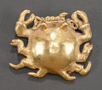 Cocle Gold Crab Bell Pendant c. 900 - 1100 AD