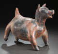 Pre-Columbian:Ceramics, A LARGE COLIMA DOG. c. 200 BC - 200 AD...