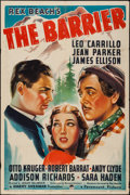 "Movie Posters:Adventure, The Barrier (Paramount, 1937). One Sheet (27"" X 41""). Adventure....."