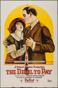 """The Devil to Pay (Pathé, 1920). One Sheet (27"""" X 41""""). Crime"""
