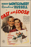 "Movie Posters:Mystery, Fast and Loose (MGM, 1939). One Sheet (27"" X 41"") Style C. Mystery.. ..."