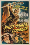 "Movie Posters:War, First Comes Courage (Columbia, 1943). One Sheet (27"" X 41""). War....."