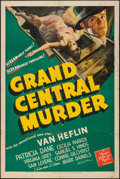 "Movie Posters:Mystery, Grand Central Murder (MGM, 1942). One Sheet (27"" X 41""). Mystery.. ..."