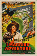 "Movie Posters:Adventure, I Married Adventure (Columbia, 1940). One Sheet (27"" X 41"").Adventure.. ..."