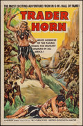 "Movie Posters:Adventure, Trader Horn (MGM, R-1953). One Sheet (27"" X 41""). Adventure.. ..."