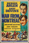 "Movie Posters:Action, Man from Montreal (Universal, 1939). One Sheet (27"" X 41"").Action.. ..."