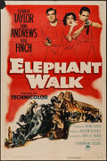 "Movie Posters:Adventure, Elephant Walk (Paramount, 1954). One Sheet (27"" X 41""). Adventure....."