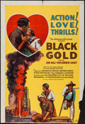 """Movie Posters:Black Films, Black Gold (Norman, 1928). Trimmed One Sheet (27"""" X 39.75""""). BlackFilms.. ..."""