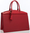Luxury Accessories:Bags, Louis Vuitton Red Epi Leather Riviera Tote Bag. ...