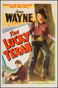 "Movie Posters:Western, The Lucky Texan (Lone Star, R-1940s). One Sheet (27"" X 41"").Western.. ..."
