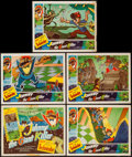 """Movie Posters:Animation, Johnny the Giant Killer (Lippert, 1953). Title Lobby Card & Lobby Cards (4)(11"""" X 14""""). Animation.. ... (Total: 5 Items)"""