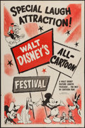 "Movie Posters:Animation, Disney's All-Cartoon Festival (RKO, 1953). Stock One Sheet (27"" X41""). Animation.. ..."