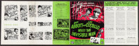 Abbott and Costello Meet the Invisible Man & Others Lot (Universal International, 1951). Uncut Pressbooks (3) (M...
