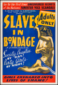 "Movie Posters:Crime, Slaves in Bondage (Roadshow Attractions, 1937). One Sheet (28"" X41.5""). Crime.. ..."