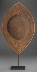 Tribal Art, Naga, (Northeastern India). Hat . Mid-20th century. Woven rattan,custom base. Height: 20 ½ inches. ...