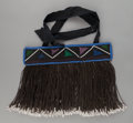 Tribal Art, Ndebelle, (South Africa). Young girl's apron (Gabi). Mid-20thcentury. Beads, cotton, wood. Width: 13 ¾ inches. ...