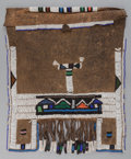 Tribal Art, Ndebelle, (South Africa). Married Woman's Apron (Mapoto). Firsthalf 20th century. Beads, leather, cotton. Length: 20 inche...