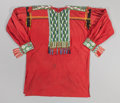 American Indian Art:Beadwork and Quillwork, A POTAWATOMI LOOM-BEADED SHIRT. c. 1890...