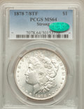 Morgan Dollars: , 1878 7/8TF $1 Strong MS64 PCGS. CAC. PCGS Population (1495/293). NGC Census: (1038/103). Mintage: 544,000. Numismedia Wsl. ...