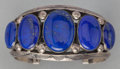 American Indian Art:Jewelry and Silverwork, A NAVAJO SILVER AND LAPIS BRACELET. Jeanette Dale. c. 2000...