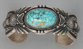 American Indian Art:Jewelry and Silverwork, A NAVAJO SILVER AND TURQUOISE BRACELET. Harry H. Begay. c. 1990...