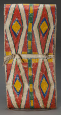 American Indian Art:Pipes, Tools, and Weapons, A CROW PAINTED PARFLECHE STORAGE ENVELOPE. c. 1890...