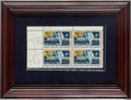 "Explorers:Space Exploration, Apollo 11 ""First Man on the Moon"" Stamp Plate Block Signed byArmstrong and Aldrin, Originally from the Personal Collection of..."