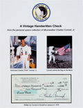 Autographs:Celebrities, Charles Conrad Signed Personal Check....