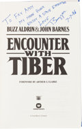Autographs:Celebrities, Buzz Aldrin Signed Book Originally from His Personal Collection:Encounter with Tiber, with LOA....
