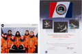 Explorers:Space Exploration, Space Shuttle Discovery (STS-91) Flown Phase One Shuttle-Mir Flagon Presentation Certificate....