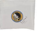 Autographs:Celebrities, Alan Bean Signed Apollo 12 Beta Cloth Mission Insignia Patch....