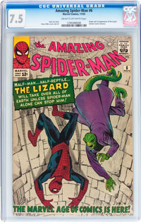 The Amazing Spider-Man #6 (Marvel, 1963) CGC VF- 7.5 Cream to off-white pages