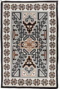 American Indian Art:Weavings, A NAVAJO REGIONAL RUG. Two Gray Hills. c. 1950...