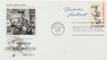 "Autographs:Artists, Norman Rockwell First Day Cover Signed. This cover, measuring 6.5""x 3.5"" and postmarked October 26, 1963, celebrates the ""..."