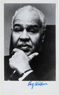 Autographs:Celebrities, Roy Wilkins Photograph Signed. Wilkins (1901-1981) was an early activist for civil rights. He has placed his signature below...