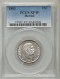 Coins of Hawaii: , 1883 25C Hawaii Quarter XF45 PCGS. PCGS Population (110/1566). NGCCensus: (42/1135). Mintage: 500,000. ...